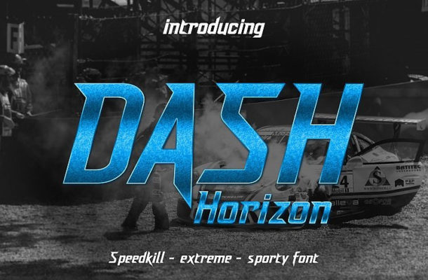 Dash Horizon Display Font