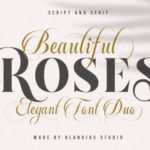 Beautiful Roses Serif Font